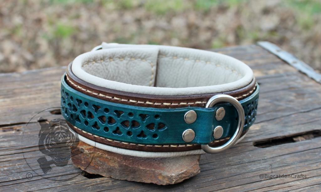 Blue & Brown Filigree Collar
