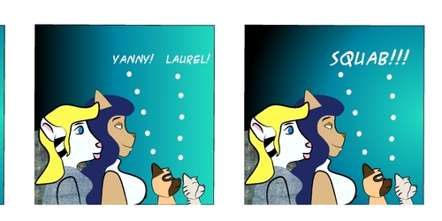Couch Kitties:  A Laurel And Yanny Cartoon!