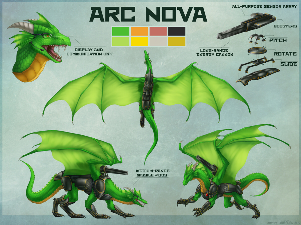 Most recent image: Arc Nova Armored Feral Reference Sheet