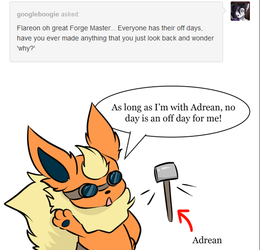 Flareon Ask: Never and Off Day