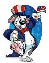 Patriotic Puppy by Dogz R Barkn