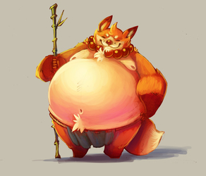 Digital Practice - That Butterball Monk