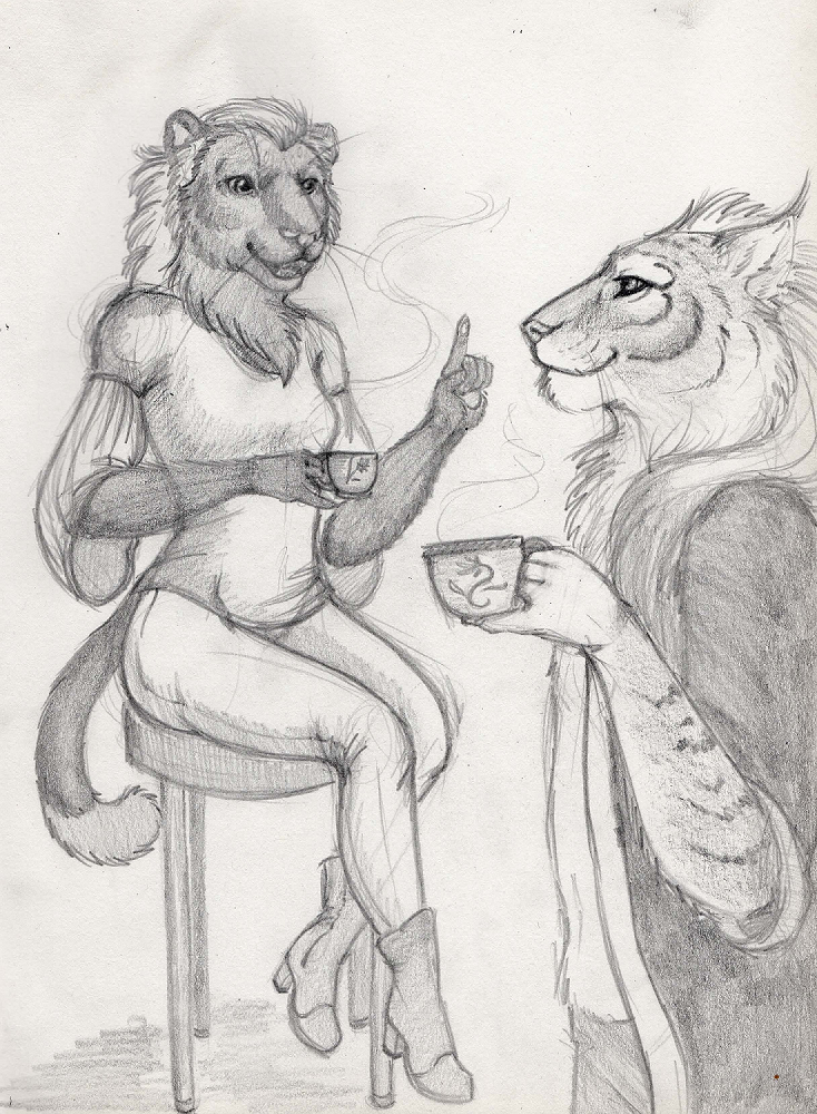 Sketch: Tea Break