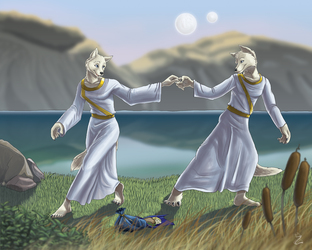 A dance by the lakeside