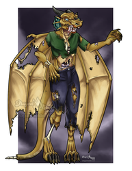 Drawlloween Wing-it: Zombiefied