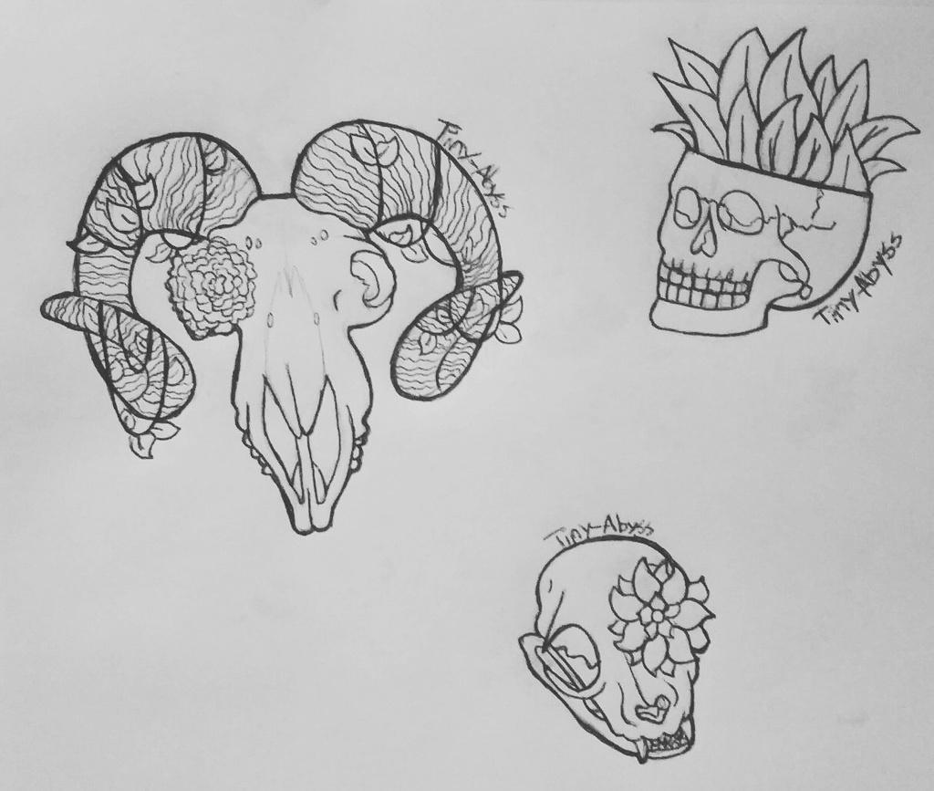 Skulls and plants