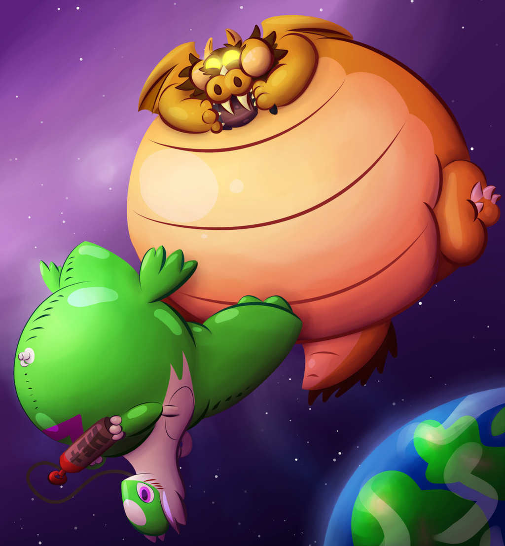 Inflation battle in space !