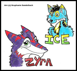 Zyra and Ice Badges