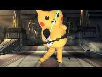 "Mascot Fursuiting: Ace Spade the Jedi Pikachu's ""Lightsaber Training"""
