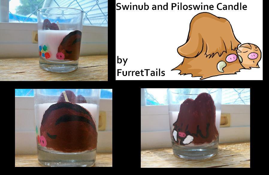 Swinub and Piloswine Candle *for sale*