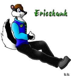 [Old Art] EricSkunk Colored by Carol Rosencran