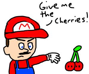 Mario Wants the Double Cherries