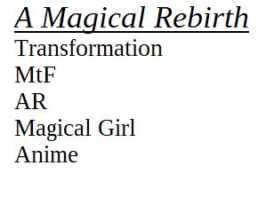 Most recent image: A Magical ReBirth