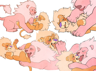 Dibs n' Lion Sketchpage
