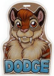 Dodge Bust Badge