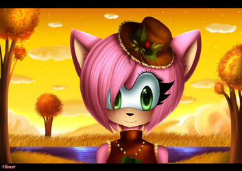 Amy rose in autumn