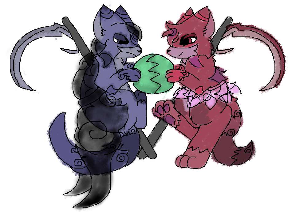A character sketch of two solar cat reapers