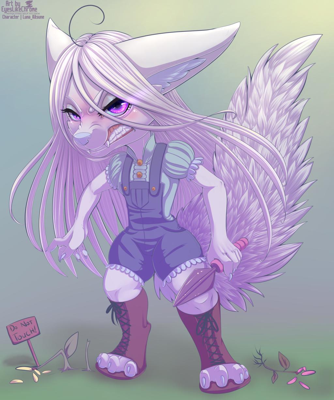 Commission: Angry Akari Chibi
