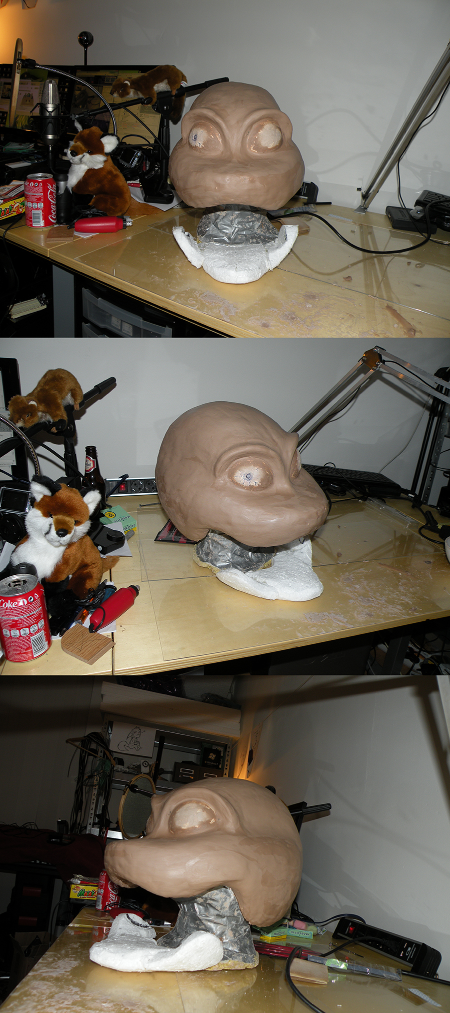 Tekno Fursuit Head Progress