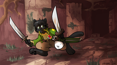 [Commission] Dungeon Explorer Aki