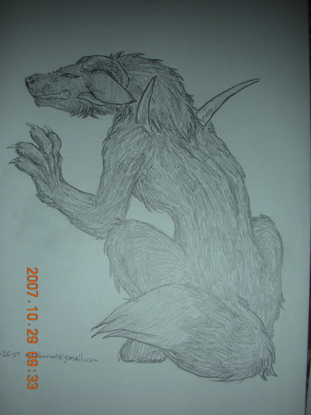 Feral Wolfer without wings