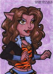 Clawdeen Wolf Art Card