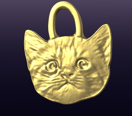 Free 3D Printable Kitten Face STL