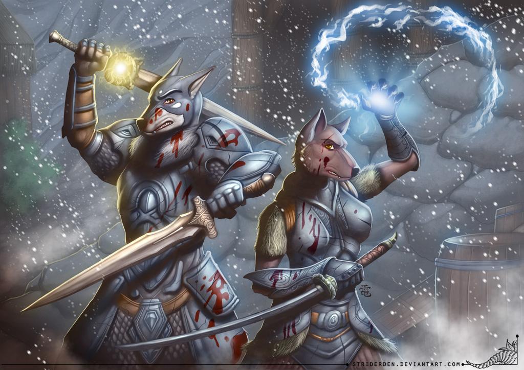 Ortaon's Skyrim couple