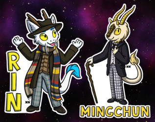 Cosplay Badges: Time Travel 2