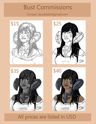 BUST COMMISSIONS!