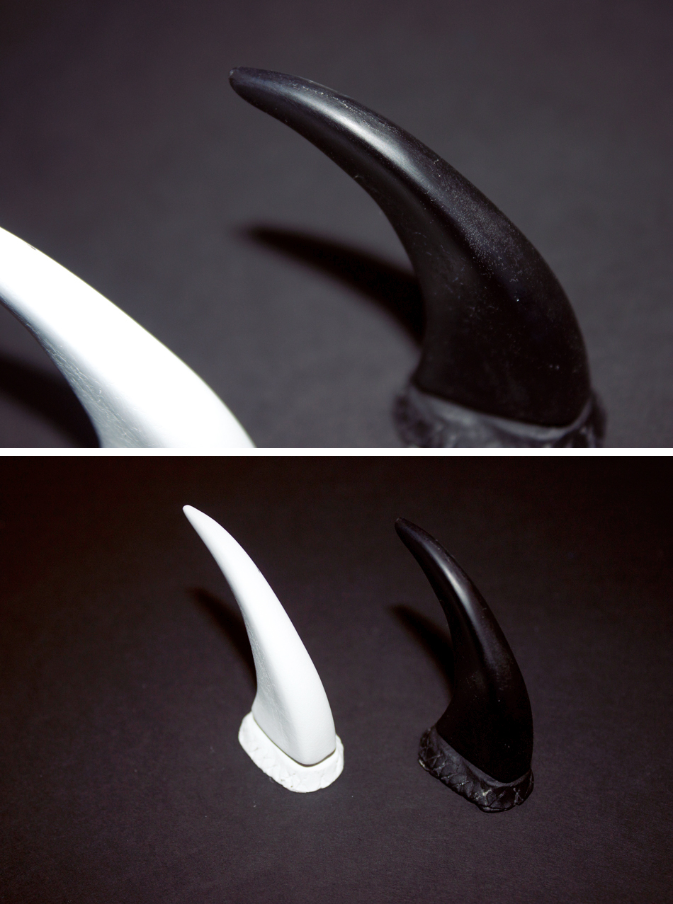 "PARTS: 2"" resin claws"