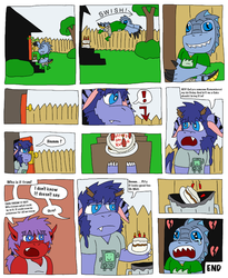 Kuron Birthday cake comic