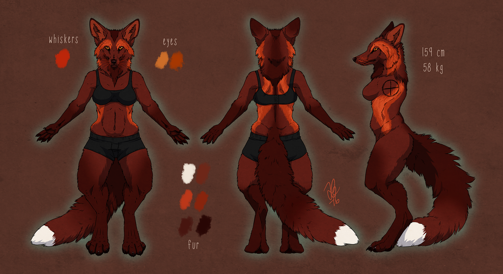 Anthro reference sheet for Avalanche