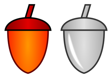 Fire Acorn and Silver Acorn