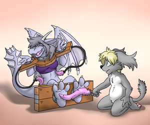 Tickling the Dragon [Stream Commission - Tickling]