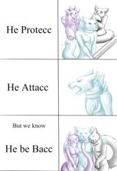 He Protecc, He Attack...