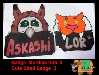 Badge mordidafofa:3 / Cute Bited Badge :3