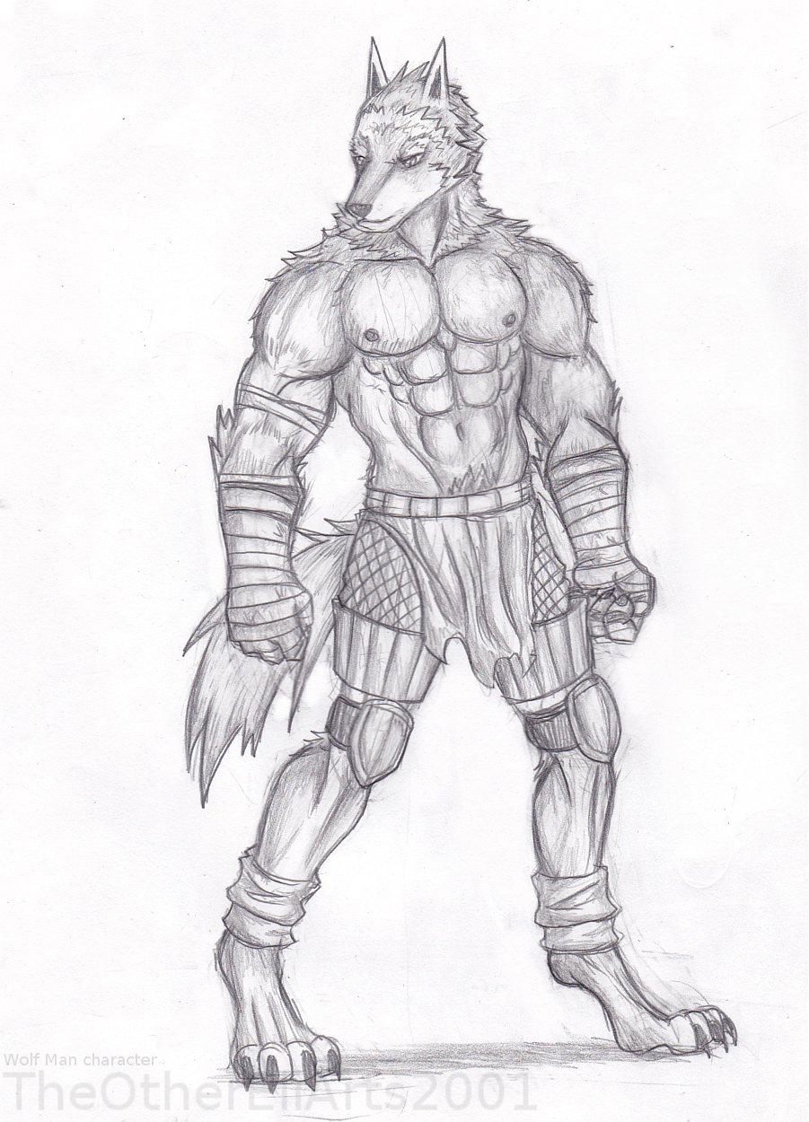 Most recent image: Wolf Man drawing