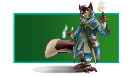 Commission - Furyfizz - Squirrelly Arcanist