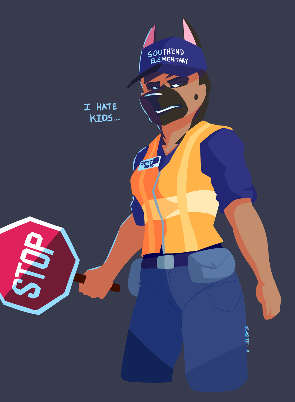 One Pissed Crossing Guard