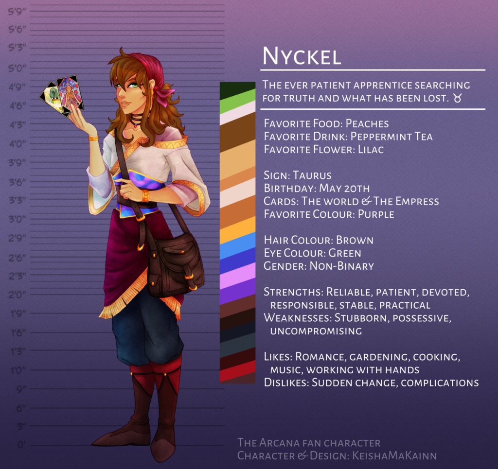 The Arcana OC - Nyckel [quick ref]