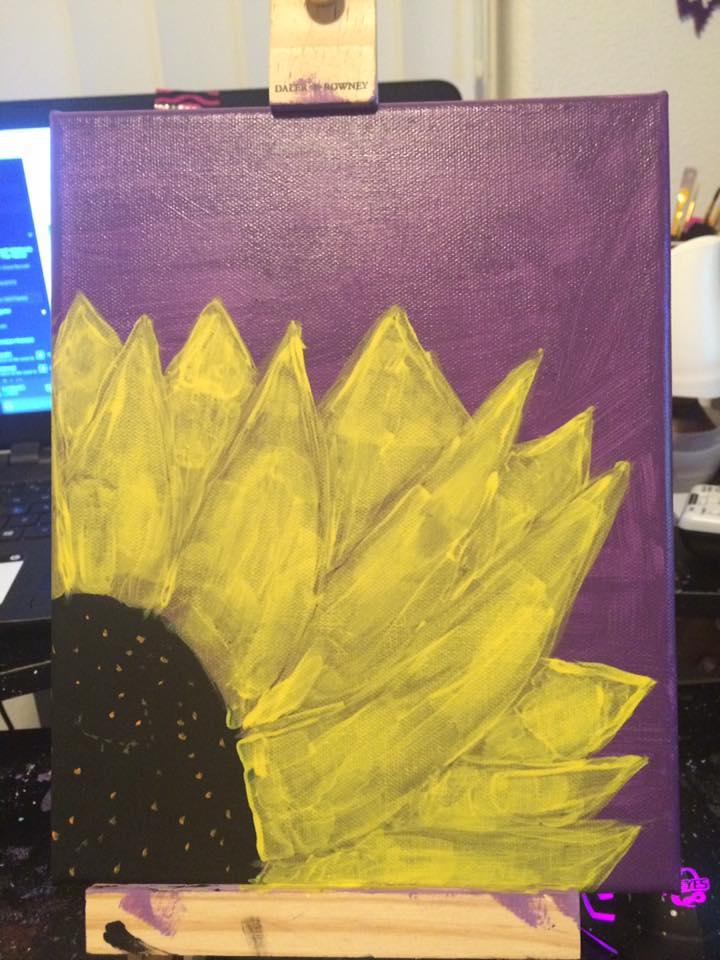 Sun flower painting