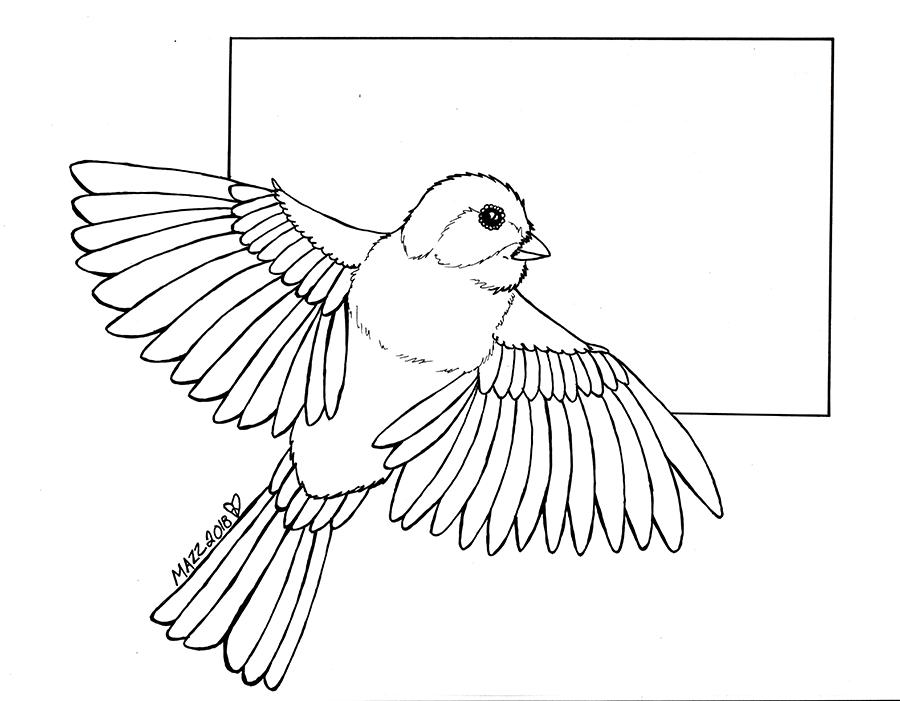 Featured image: Chickadee dee dee dee inks