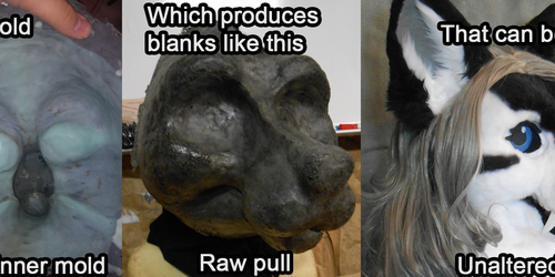 Canine head mold for sale