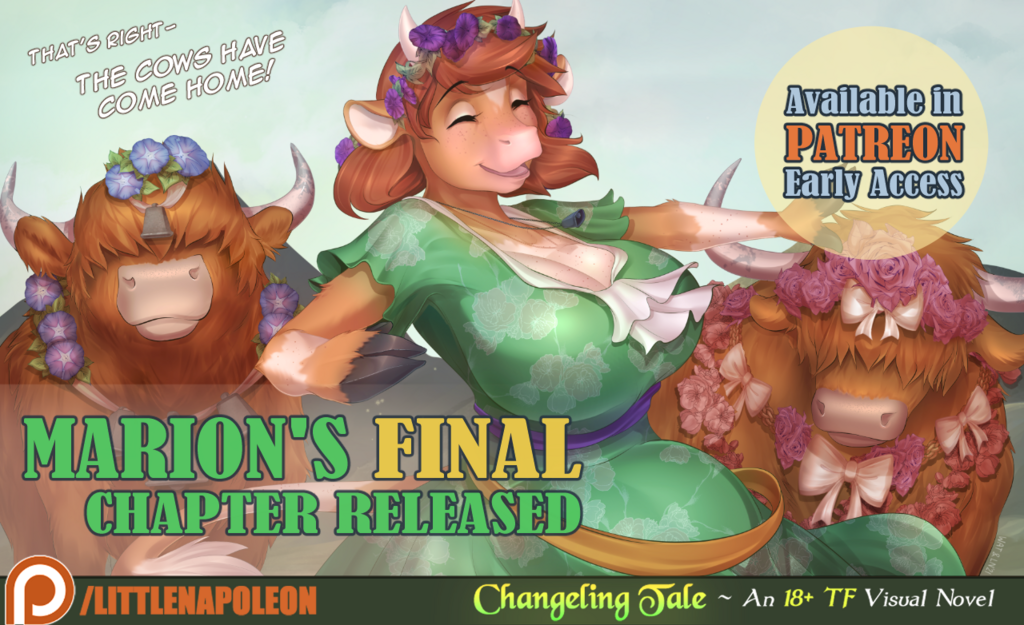 Most recent image: Changeling Tale- Marion's Complete Story Released!