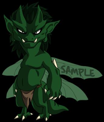 Sample Adoptable Imp - Green