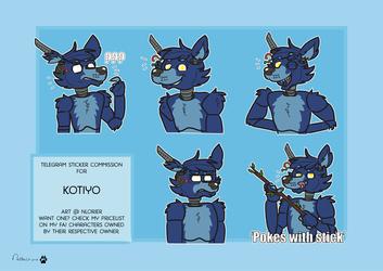 Telegram stickerpack commission for Kotiyo