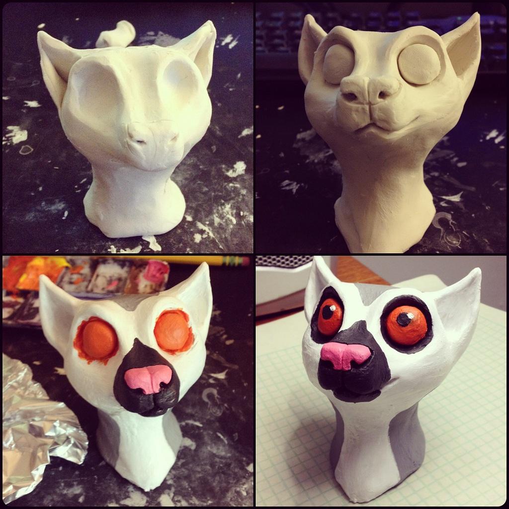 Lani the Lemur [Head Sculpture]