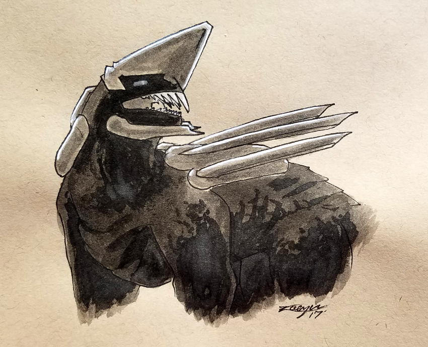 Inktober day 29. Beast.