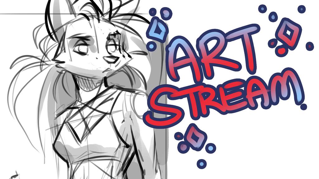 ART STREAM | Workout Wolf + Doodles